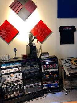 Racks of Classic Analog Preamps