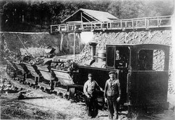Mine Ste Anne - les wagonnets