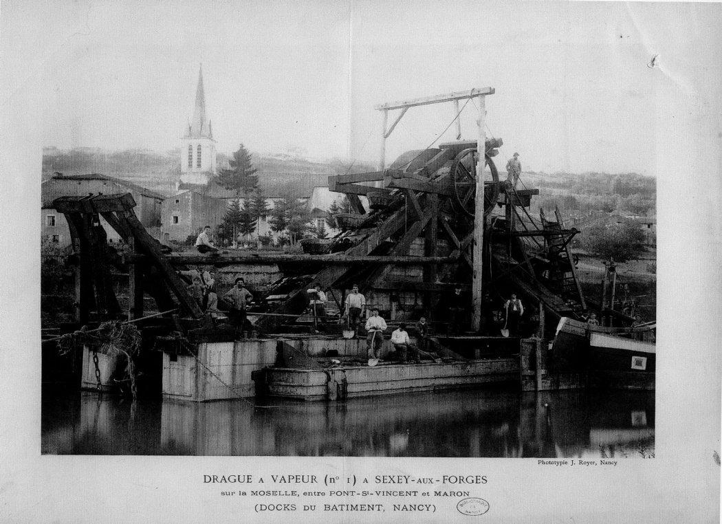 Drague à vapeur - 1870