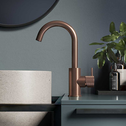 Basin Mixer Brushed Copper