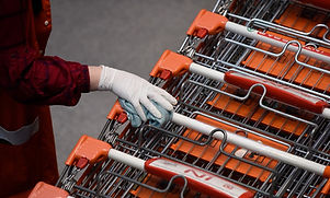 Antimicrobial_film_on_shopping_trolley_handle