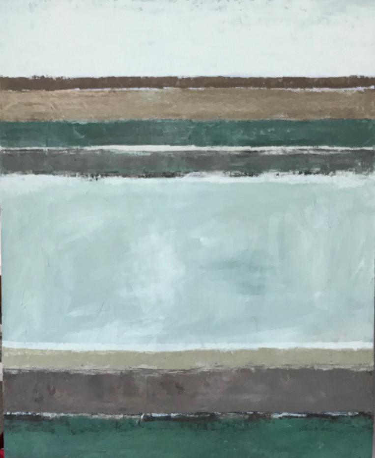 Bretagne (10). 81 x 100 cm. Oil+coldwax