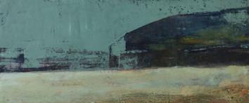 arquitectura 22 x 51 cm. oil+coldwax