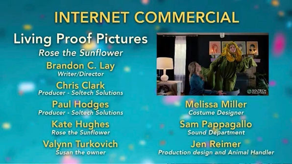 Living Proof Pictures wins the Silver Addy Award for Best Internet Commercial.