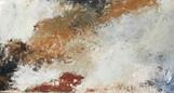 Serie Napoli Vesubio (9) 21 x 40 cm Acrylic + cold wax