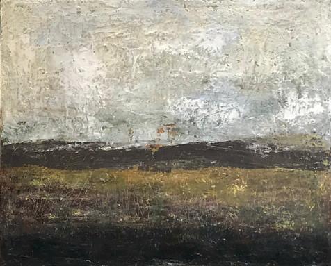Paisaje otoñal.81 x 100 cm .Acrilico+coldwax