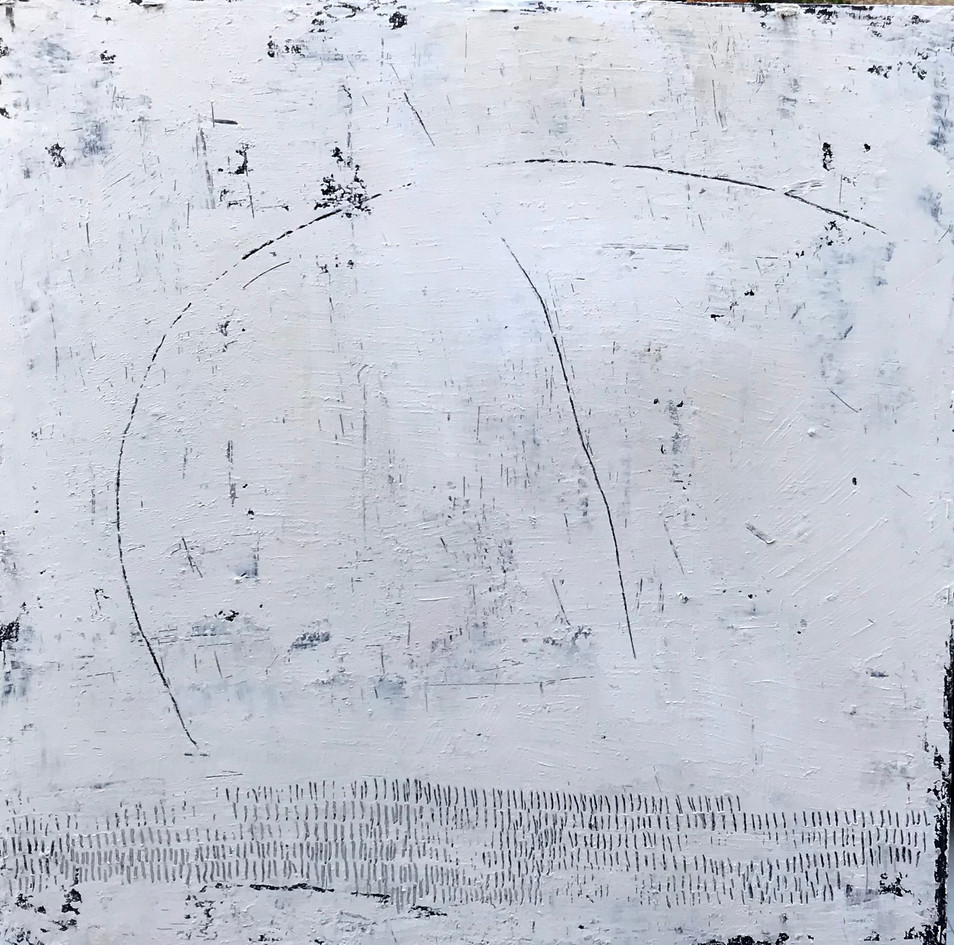 Secuencia num 1. 60 x 60 cm . Acrylic+ cold wax