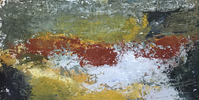 Serie Napoli Vesubio (8) 21 x 40 cm Acrylic + cold wax