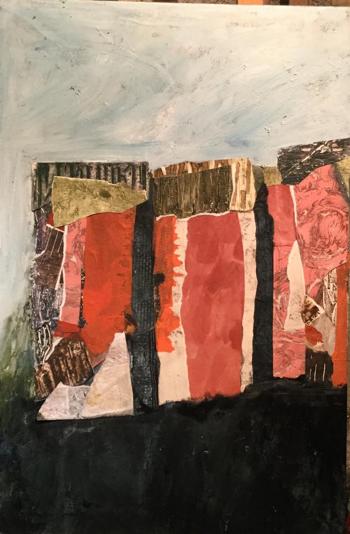 Presó de Busa. Collage. 72 x 54 cm