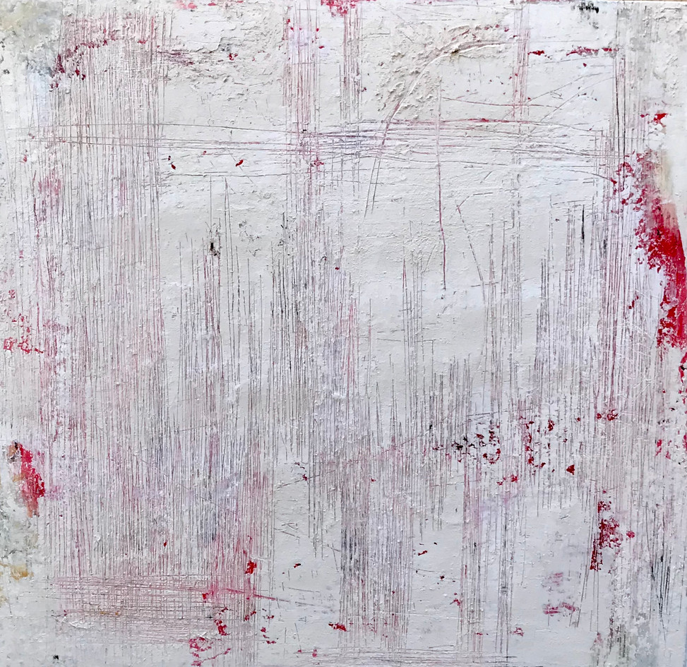 Secuencia num 2. 60 x60 cm. Acrylic + cold wax