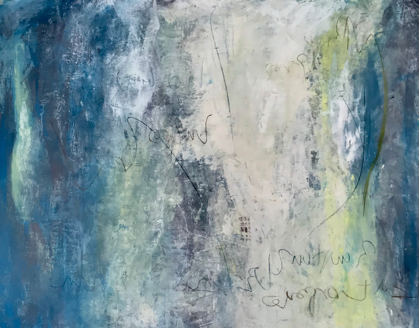 Serie Haikus. Rio 80 x 100 cm Acrylic+coldwax