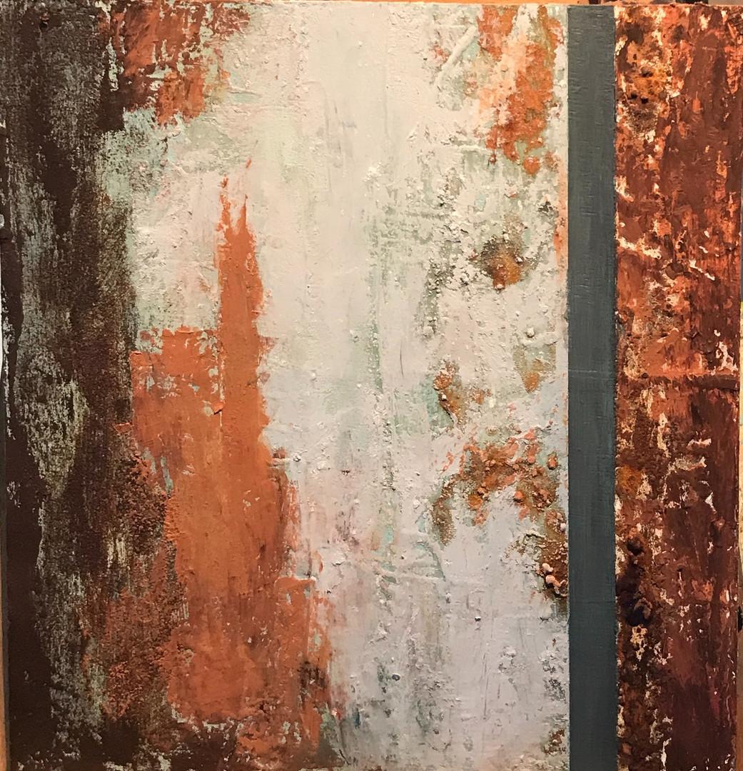 Paso del tiempo(2) 40 x 40 cm. Oil+coldw