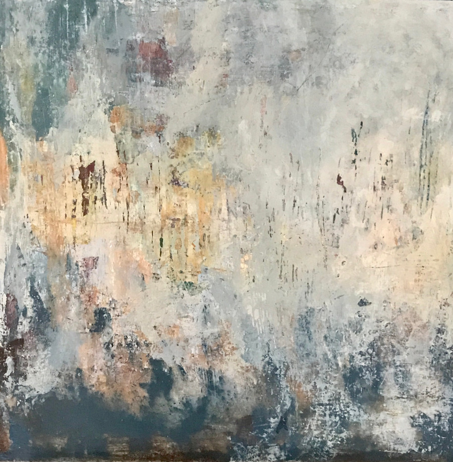 Bretanya(4) 60 x 60 cm. Acrylic+coldwax