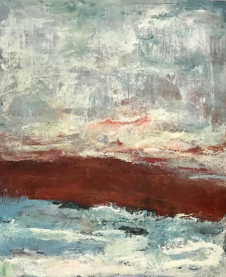 Bretanya (8). 126 x 100 cm . Acrylic+coldwax