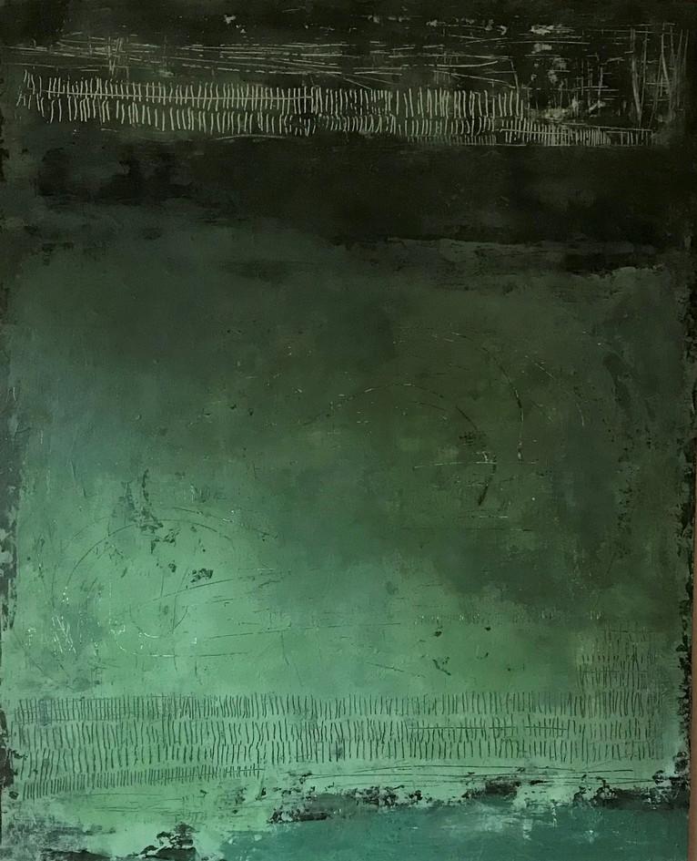 Secuencia num 4 81 x 100 cm . Acrylic + coldwax