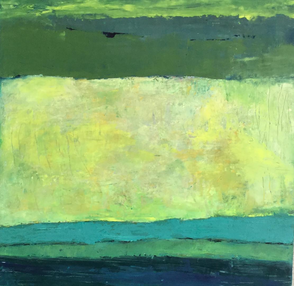 camino. 60 x 60 cm. oil+coldwax