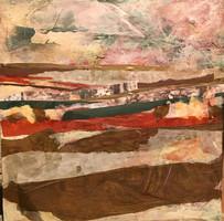Paisaje. Collage. 40 x 40 cm