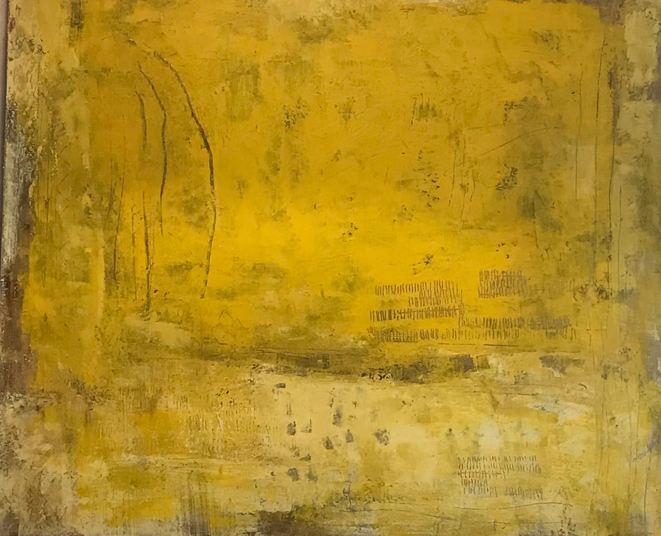 Secuencia num 6. 100 x 81 cm. Acrilic + cold wax