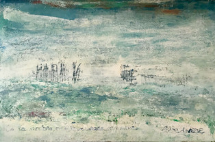 Serie Haikus.Alba de nieve. 60 x 92 cm. Acrylic+coldwax