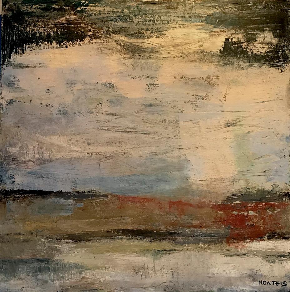 Bretanya(5). 60 x 60 cm. Acrylic+coldwax