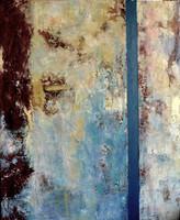 Paso del tiempo 100 x 80 cm oil+coldwax