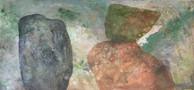 Equilibri num 15  130 x 60 cm Acrilico