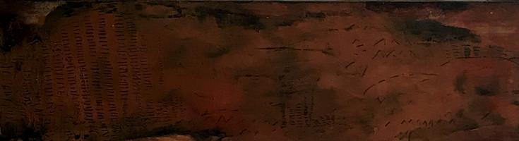 Secuencia num 5. 81 x 22 cm, Acrylic + coldwax