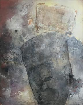 equilibri num 12  65 x 81 cm acrilico + coldwax