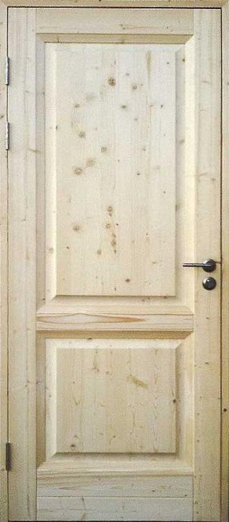 Дверь 2х филенчатая с сучком