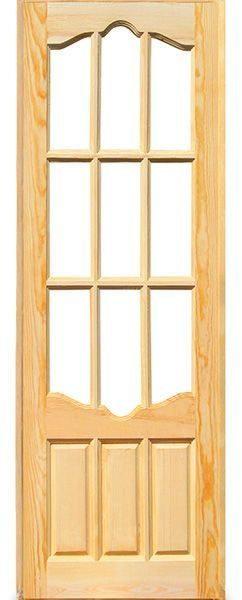 Дверь 12 филенчатая со стеклом