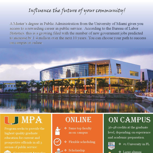 JPG University of Miami MPA Program Ad-p