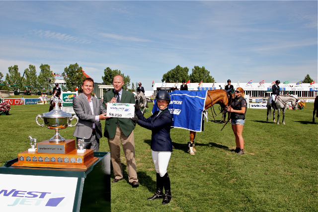 Navare Wins FEI class at Spruce Meadows