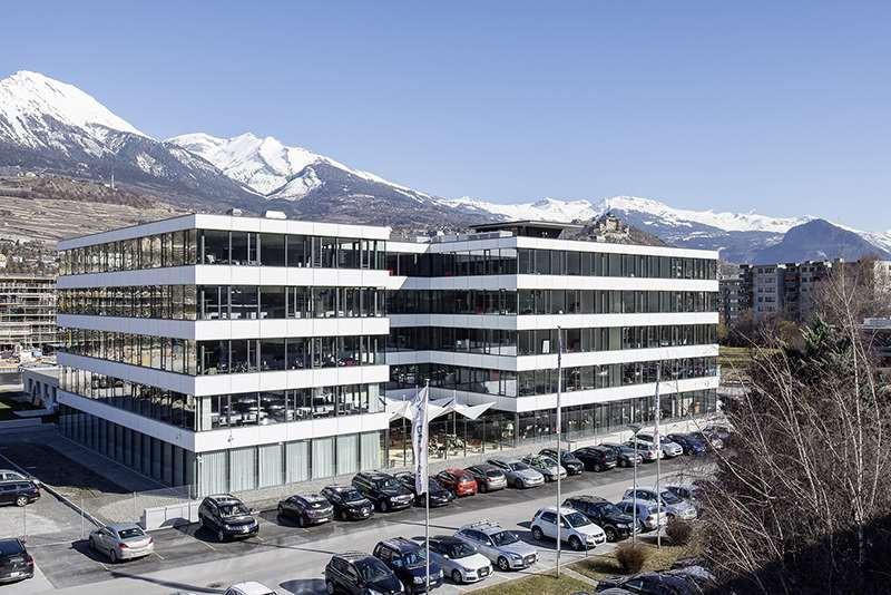 Swisscom business parc à Sion