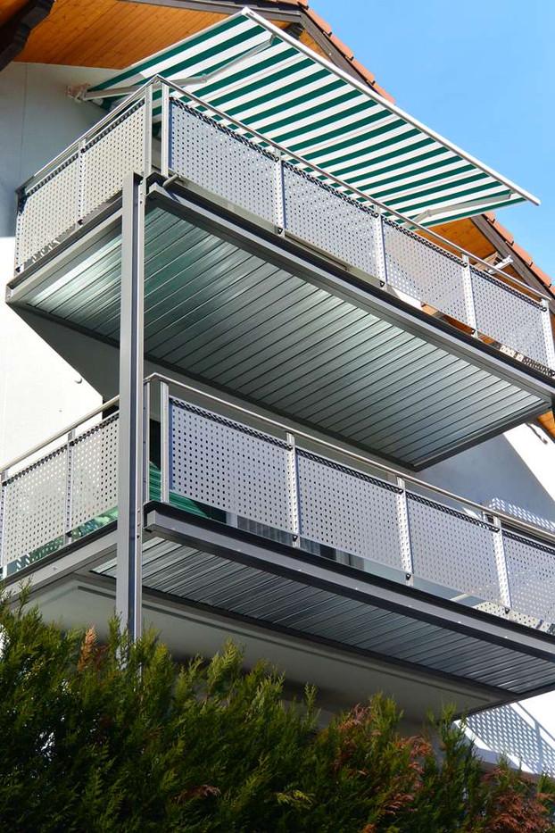 Création d'un balcon à Bramois
