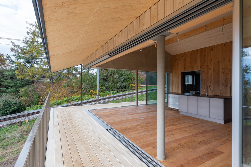 Villa à Blonay avec le bureau SCA Sylvain Carera Architectes epfl-sia