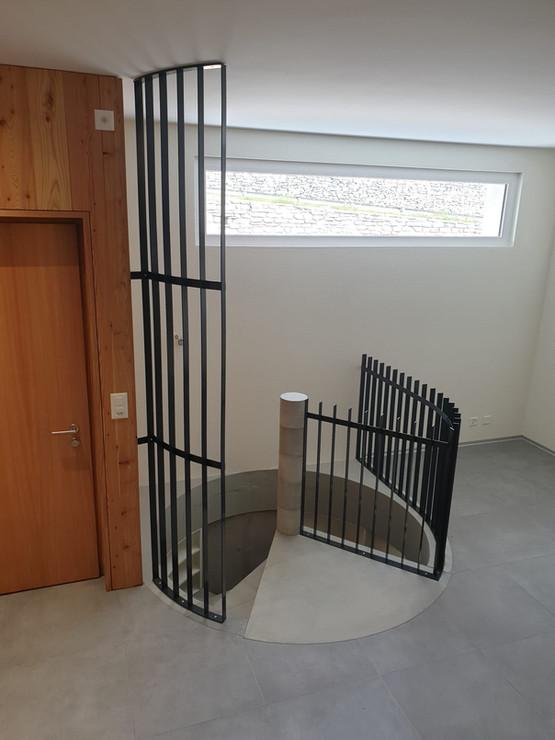 Sécurisation escalier, balustrade en bar