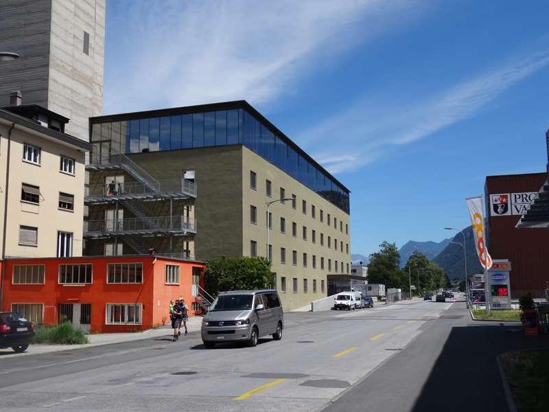 EPFL Sion, couronnement vitré