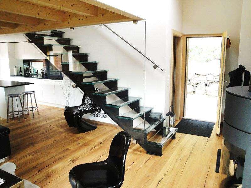 Escalier verre/acier