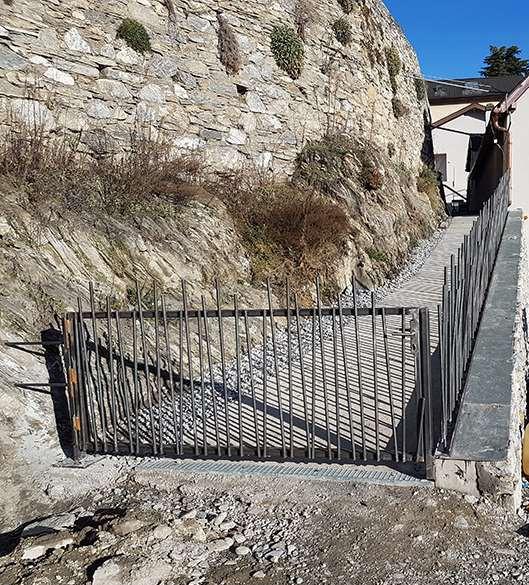 Cave Mont d'or - barreaudage acier