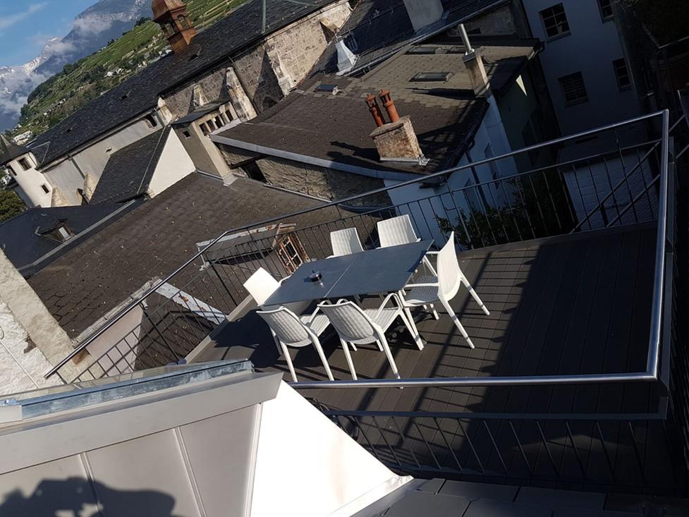 Aménagement d'un terrasse en vieille ville