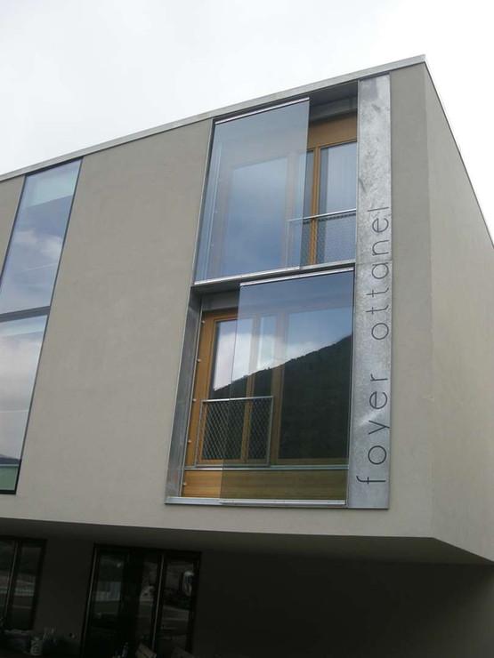 Foyer Ottanel à Vernayaz, garde-corps en verre