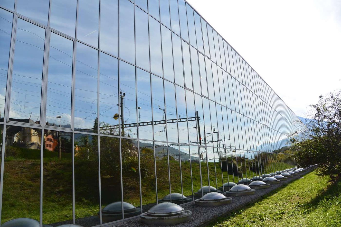 HES-SO Sierre - façade vitrée