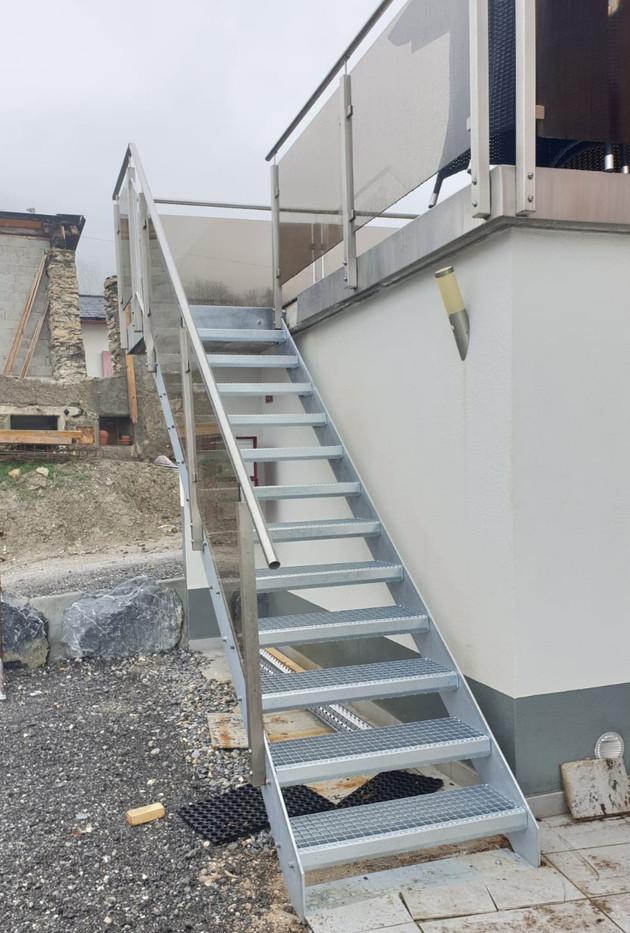 Escalier acier après rénovation