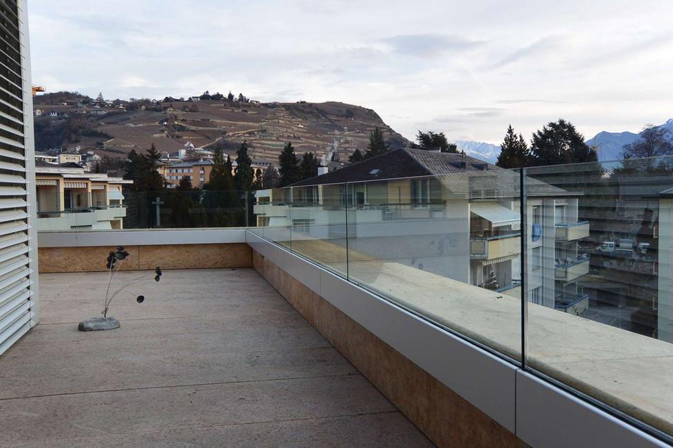 Garde-corps de terrasse à Sion