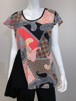 T-2617 BLACK AND CORAL