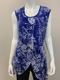 T-2606 ROYAL BLUE AND WHITE