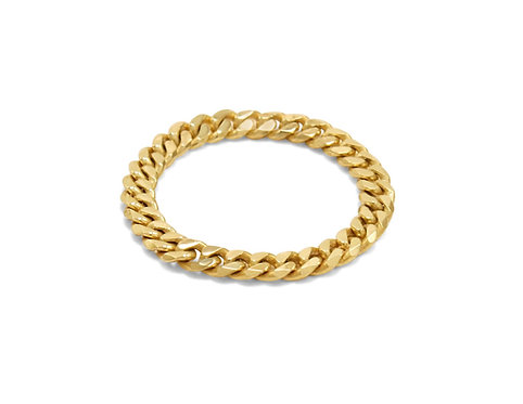 Cuban link ring, chain ring, gold chain, katherine lincoln, cuban ring