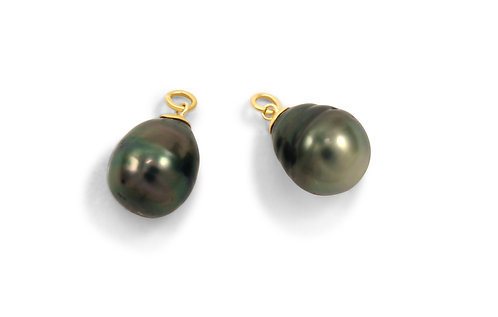 *Manifest Black Tahitian Pearl Earring Charms Currently
