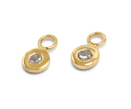 gey diamond earrings, grey diamond charms, earring charms, diamond earrings, katherine lincoln
