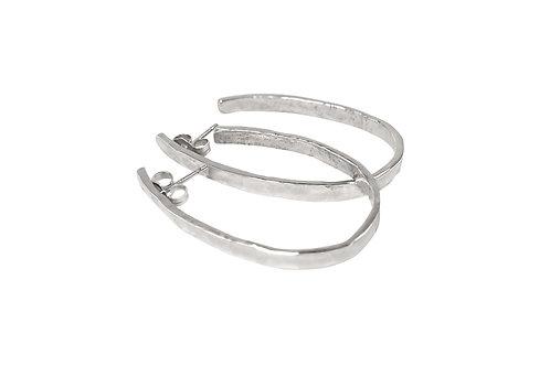 hoop earrings, hammered jewelry, hammered silver, hammered hoop earrings